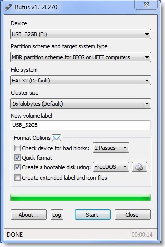 Create a bootable USB thumb drive